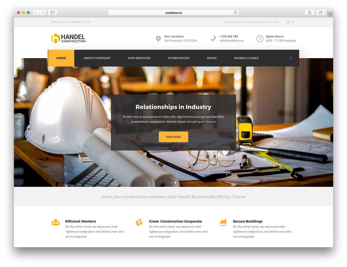 web design for construction company_t2