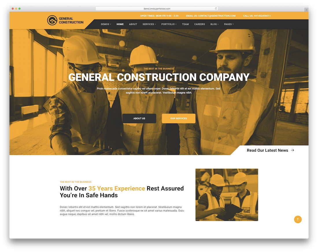 web design for construction company_t3