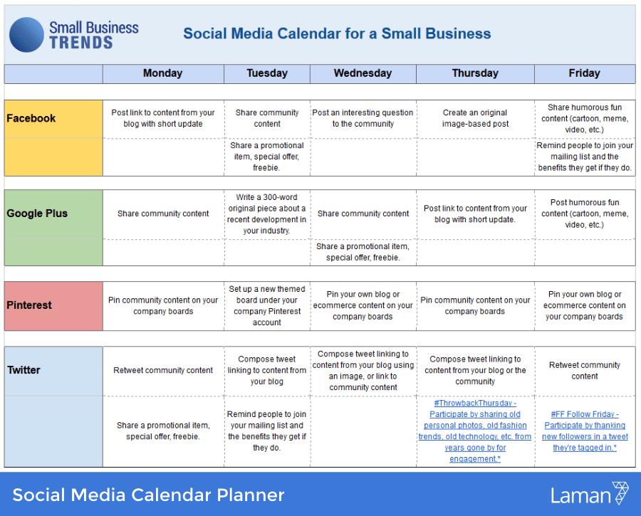 Marketing During Covid-19. Social Media Planner