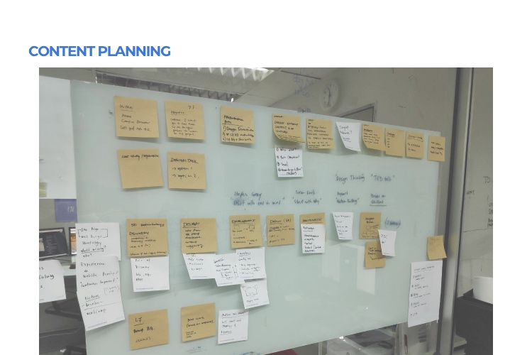 web design process - Content Planning
