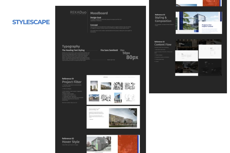 web design process - Style Scape